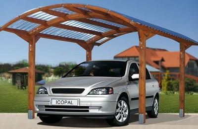 Деревянный навес для машины своим руками