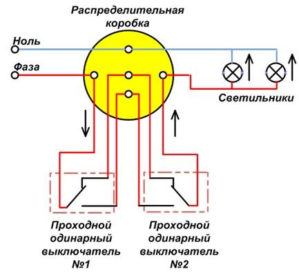 электрическая схема выключателя